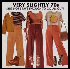 70s Inspired Outfits, 70s Inspired Fashion, 70s Outfits, Swaggy Outfits, Hippie Outfits, 70s Fashion, Cute Casual Outfits, Vintage Outfits, Fashion Outfits