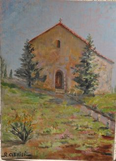 Vintage French Oil Painting, Impressionist style Painting, Oil on Canvas Picture, Pastel Wall Hanging, Country Cottage, Made in France by FrenchArtAntiques on Etsy