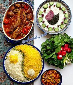 تزیین Wine Recipes, Asian Recipes, Ethnic Recipes, Afghan Food Recipes, Iran Food, Iranian Cuisine, Eastern Cuisine, Veggie Tray, Food Decoration