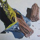 Peeled off from April Jarocka - - Candy Drawing, Food Drawing, Sweet Wrappers, Close Up Art, Sweet Drawings, Gcse Art Sketchbook, Carnival Food, Still Life Drawing, Object Drawing