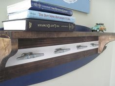 Surfboard Coat Rack and Shelf with boat cleats. cool! from Project Cottage