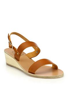 6b32311c55d1 Ancient Greek Sandals - Clio Leather Wedge Sandals
