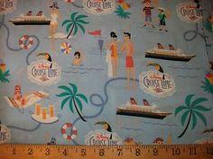"58"" Disney Cruise Line SHIP Fabric RARE | eBay"