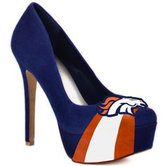 Seen these pinned for every team but the Broncos. Well, now we got the Broncos!  Wear these with capri length boyfriend jeans, a tight tank and a cute girly Bronco hoodie. I think that'd look awesome.