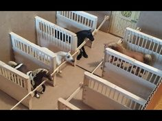 How to make Schleich / Breyer Horse Stall Dividers, for a Box Barn. - YouTube