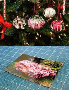 DIY Picture Christmas Balls