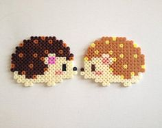 Cute Hama Beads Perler Hedgehogs