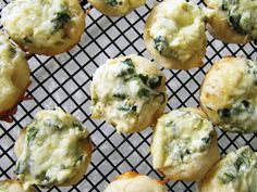 2/14/13 Spinach Dip Bites - I made these in mini phyllo shells and they were a huge hit at the Valentine's day party.  Delicious.  Mixed everything except for mozz. cheese, baked at 350 for 10 min.  Scooped into shells, sprinkled on mozz. and baked for 5 more minutes.