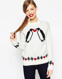 """[Size 40] 34€ Bild 1 von ASOS – Weihnachtspullover mit """"Love Penguins"""" zugunsten der ASOS-Stiftung"""