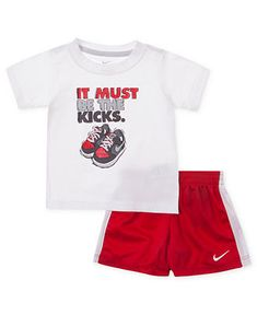 Nike Baby Set, Baby Boys Nike It Must Be the Kicks Tee and Shorts - Kids Baby Boy (0-24 months) - Macys