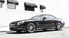 """Mercedes Benz SL550 with staggered 20"""" c883 in chrome"""