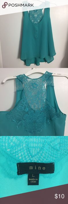 Beautiful Tank Top Green/Blue Tank Top! Cute and comfy! ✨Offers are welcome! 20% 2 or more items!✨ mine Tops Tank Tops