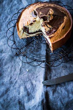 Bizcocho de chocolate marmolado -Marble cake - Because blog