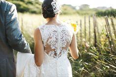 Amazing illusion back lace wedding dress {Lena Mirisola Photography}