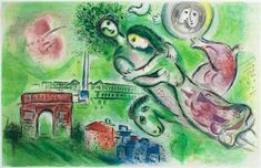 Marc Chagall Lithograph, Romeo et Juliette (Romeo and Juliet), 1964