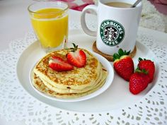 Find images and videos about food, yummy and coffee on We Heart It - the app to get lost in what you love. Breakfast Pancakes, Sweet Breakfast, Breakfast Time, Breakfast Ideas, Favim, Dessert Recipes, Desserts, Vegan Vegetarian, Vegan Food