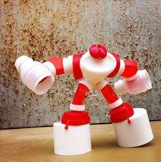 Поделки из мусора – роботы своими руками
