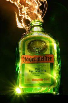 Jäger Power!! Cowboy Outfits, Whiskey Bottle, Alcoholic Drinks, Perfume Bottles, Luther, Sushi, Deer, Beast, Life