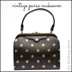 Dream a Little Bigger - Dream a Little Bigger Craft Blog - Vintage Purse Makeover I love the leather refinishing tips