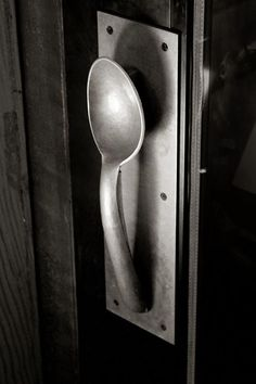 It's from a restaurant in NY city. Perfect for a kitchen door nob!