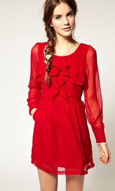Pretty innocent red dress