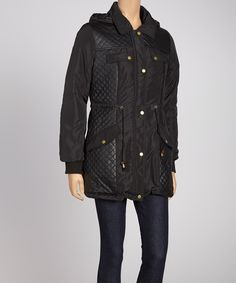 Take a look at this Black Puffer Jacket on zulily today!
