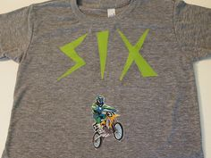 Motorcross Shirt Organic Blend Birthday Tee dirt bike off road bike motorcycle Boys Tshirt. $28.00, via Etsy.