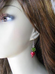 Luna Inspired Dangle Radish Earrings Luna by bluesparrowtrinkets