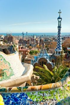 Park Guell a Barcelona......................
