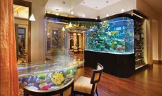 Bar with aquarium