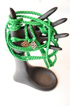 Emerald Celtic Knot Wedding Handfasting Cord Ceremony Handblessing Vows