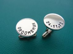 Personalized Cufflinks  Groomsman Cufflinks  by TesoroJewelry, $18.00