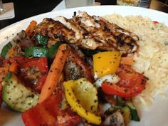 Grilled chicken and roasted veg