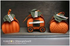 KideSo's Stempelwelt: Kürbiszeit - Herbstzeit #Thinlits #Zierschachtel für Andenken von #Stampin' Up! #Curvey Keepsake Box