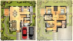Image result for chopin model house filinvest floor plan Two Story House Design, Small House Design, Two Story Homes, Model Homes, House Plans, Floor Plans, Flooring, How To Plan, Living Room
