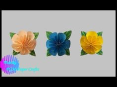 DIY-Origami How to make a little flower Diy Origami, 3d, Plants, How To Make, Plant, Planting, Planets