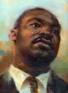 Jerome Lagarrigue, Martin Luther King on ArtStack #jerome-lagarrigue #art