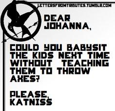 Haha this makes my life! It seems like something Johanna would do ;)