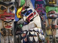 paintings of the pacific northwest | ... Northwest Photograph - Totem Poles In The Pacific Northwest Fine Art