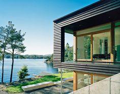 Villa Storingavika 9 Home Resembling a Wooden Vessel in Norway: Villa Storingavika