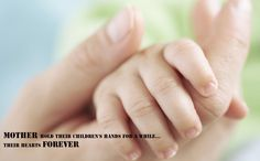 Mother hold their children's hands for a while their hearts forever#ivf Treatment #clinic