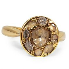 18K Yellow Gold The Luli Ring, top view