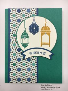 Stampin' Up! Moroccan Nights Stamp Set and Moroccan Designer Series Paper, Duet Banner Punch, Jar of Love Stamp Set
