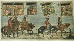 Albrecht Altdorfer (c. 1480 -1538), Hans Burgkmair (1473-1531), Albrecht Dürer (1471-1528) & others — Triumphal Procession, 1517 (1500x838)
