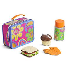 This is Julie's lunch box.  She will sit in her egg chair and eat it!  Or maybe take it in her car when she drives herself to school!