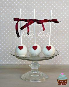 Heart Wedding CakePops