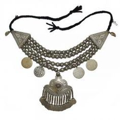 Tribal Jewelry - Large Kashmiri Style Tribal Necklace.  www.redcamel.net