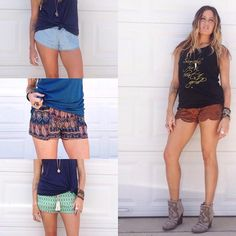 Give your cut-offs a break!! Shop our shorts at THESOULFULGYPSY.COM  FREE SHIPPING 'till Friday at midnight! Use code 'freeship'
