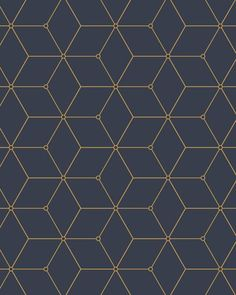 Geo Hex Wallpaper A classic geometric design elevated to current standards. Perfectly classic yet cu Vinyl Wallpaper, Wallpaper Paste, Pattern Wallpaper, Hexagon Wallpaper, Peelable Wallpaper, Wall Patterns, Textures Patterns, Motif Art Deco, Futuristic Interior
