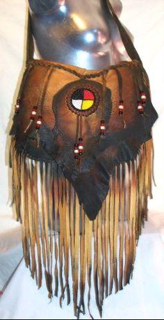 Artisan Leather Fringed Handbag Deerskin Fringe Purse by dleather, $249.95